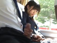Bus, Blowjob, Bus, Cowgirl, Fingering, Handjob