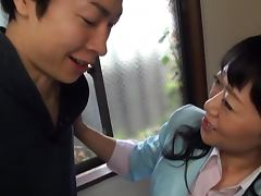 Japanese Mature, Couple, Cum in Mouth, Cumshot, Facial, Handjob