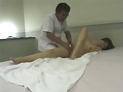 Japanese massage room with a hidden camera