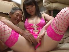 Japanese Old and Young, Cowgirl, Hairy, Japanese, Lingerie, Old