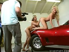Behind the Camera Footage Of Lesbian Scene with Sophie Moone