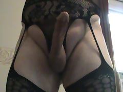 Cock and New Bodystocking thick cumshot load