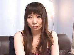 Beautiful Nanako Yoshimoto Masturbates while The Guy Jerks Off