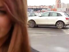 Real amateur babe pulled from parking lot