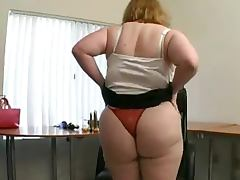 Fat blonde shows off her hairy cunt and pounds it with a dildo tube porn video