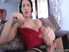 Tempting tgirl babe Jennifer Hills boned tube porn video