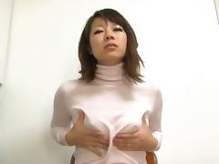 Yuna's Oiled Up Boobs In A Shirt Are Good For A Tit Fuck