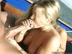 Blonde and Brunette Fucked By Dude