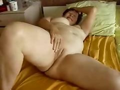 Granny Jane playing with her pussy