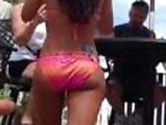 Girl with astonishing ass gets caught on a spy cam on a beach