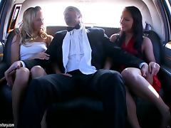 Two Whores Fuck On Top Of A Limo
