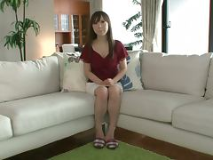 Masturbating Lon Haired Japanese Moe Ohishi Gets Off with Sex Toys