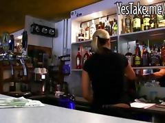Amateur blondie European bartender Lenka reamed for some cash