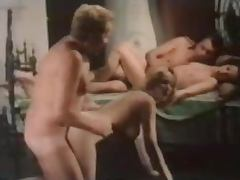Patricia Rhomberg gets fucked by two men in stunning vintage video
