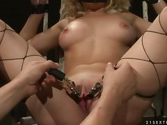 Gina the lustful blonde loves BDSM very much