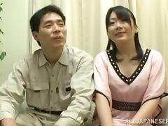 Japanese Chick Searching for Her Man's Cock in Gloryhole Contest