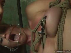Kathia Nobili gets tied up and unforgettably fucked porn tube video
