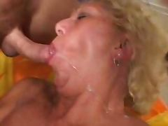 Debbie sucks a prick before taking it in her overstretched asshole