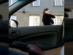 Flashing russian car porn tube video