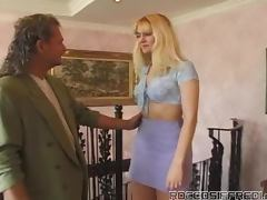 Blonde Slut In Corset Gets Fucked