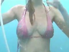 Bikini, Beach, Bikini, Boyfriend, Shower, Voyeur