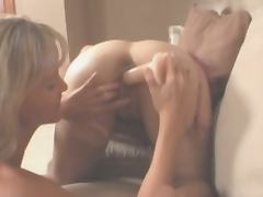 Horny lesbians toying each other holes