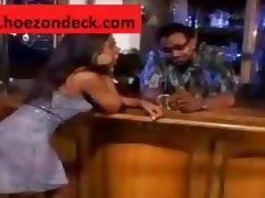 Bar Fly Sucks Cock While Bartender Watches