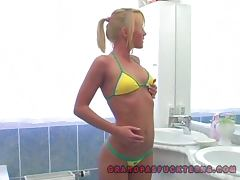 Bathroom, Amateur, Bathroom, Bikini, Blonde, Couple