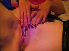 Wife takes her lover's cum deep in her pussy
