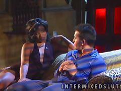 Sweet Sydnee Capri gets licked and fucked on a sofa