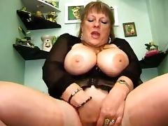 Chubby mature lady gets two hard cocks at a time