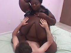Bbw ebony pounded by young white boy tube porn video