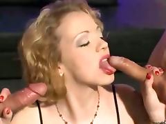 Tattooed blonde goes for the goo gold