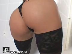 Busty and gorgeous brunette Radka plays with herself