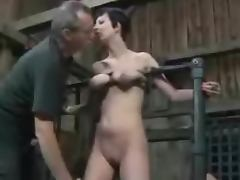 Slave Cherry gets her pussy torn in a wild bdsm
