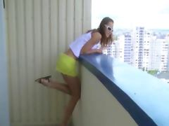 Amateur Horny People Balcony