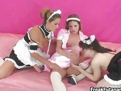 Three hot girls love having