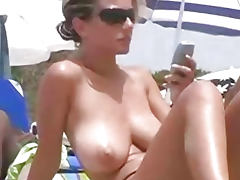 Spanish Topless Beauty at the Beach