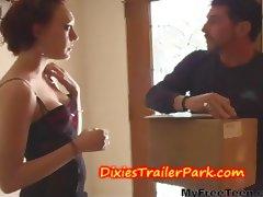 Hottie Ty Teen Pays Bill With A Blow Job teen amateur teen cumshots swallow dp anal