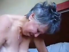 Granny jerking and cum on tits tube porn video