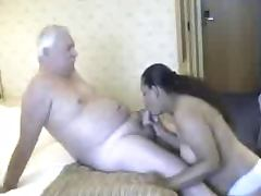 Chubby Indian Babe and old Tourist