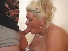 chubby blonde with big tits sucks tube porn video