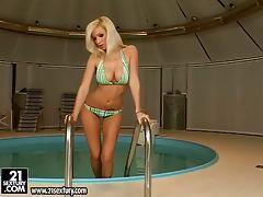 Spa harmony with a busty blondie Karoline