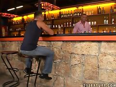 Two handsome guys have sex after drinking alcohol