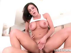 Babe in hot butt taking shaft deep in her slick twat