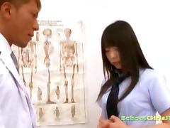 Busty Schoolgirl Getting Her Tits Rubbed Nipples Sucked Pussy Licked By The Doctor In The Surgery