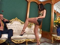 Naughty Veronica Carso rides big hard cock passionately