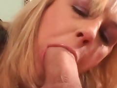 Horny milf gives nice blowjob and takes big cock