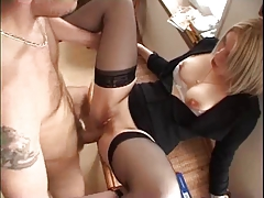Amateur Blonde Tres Sexy Lingerie Anal porn tube video