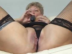 Blonde Shorthair BBW Granny fucked tube porn video